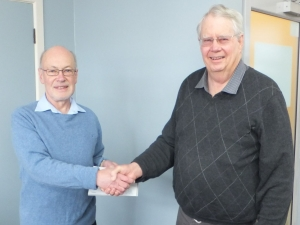 Don receiving his award from George Stewart, Southern Region delegate